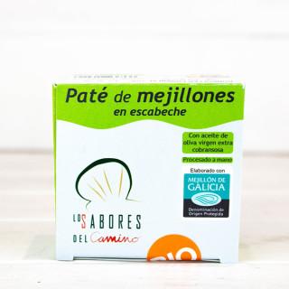 Paté de Mejillones Gallegos en Escabeche BIO, 102 gr