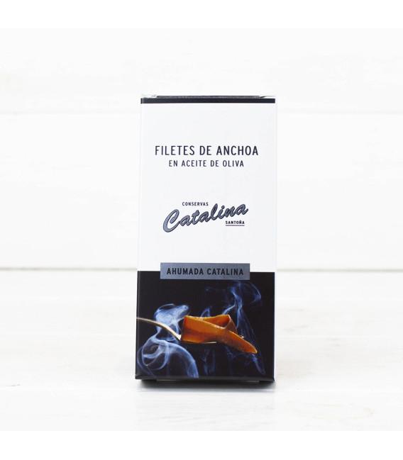Anchoas de Santoña Ahumadas en Aceite de Oliva 50 grs.Catalina
