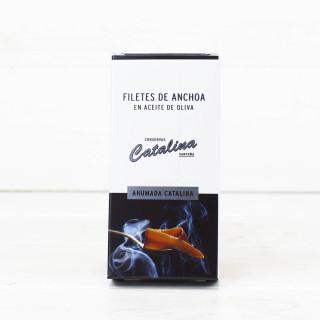 Anchoas de Santoña Ahumadas en Aceite de Oliva 50 grs. Catalina