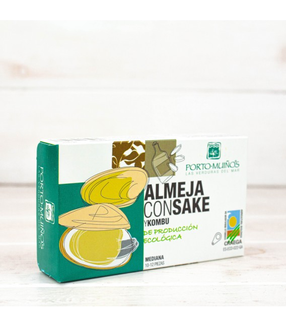 Almejas con Sake y Kombu BIO, 83 gr
