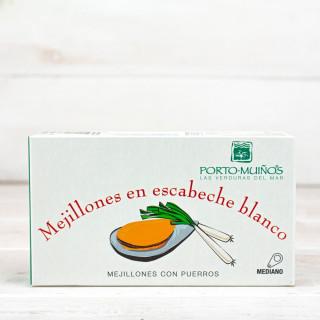 Mejillones en Escabeche Blanco, 120 gr