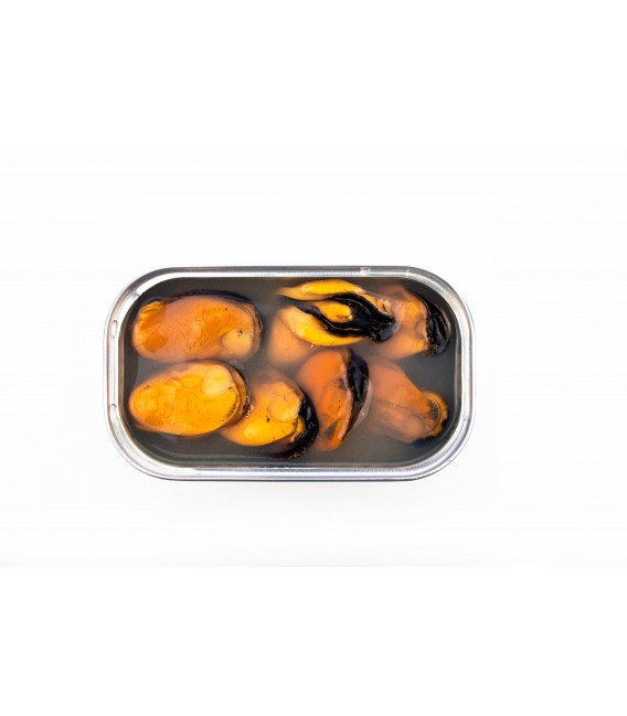 Mejillones al Natural con Wakame BIO, 120gr