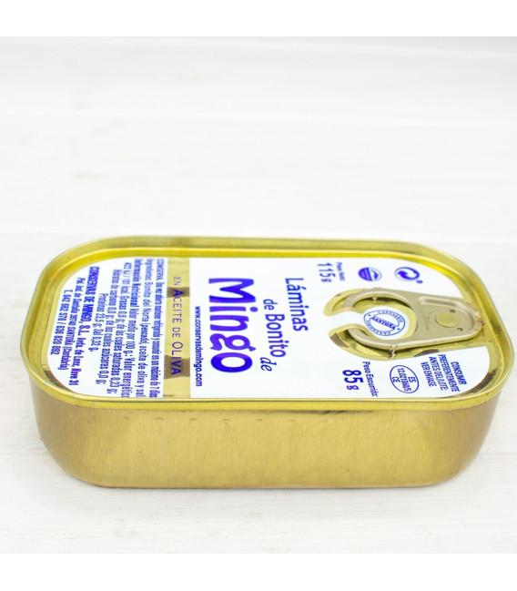Láminas de Bonito del Norte en Aceite de Oliva 115 gr, Mingo