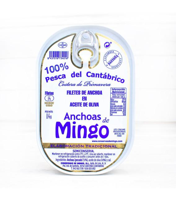 Anchoas en Oliva Serie Oro ALTA RESTAURACIÓN 14 Filetes, Mingo