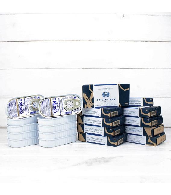 Pack 10 Octavillos Anchoas Mingo y 10 Anchoas Capitana