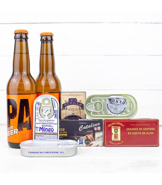 Pack Anchoas vs Cervezas Artesanas