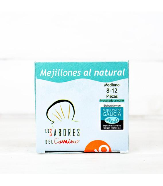 Mejillones Gallegos al Natural 8/12 piezas BIO, 110 gr