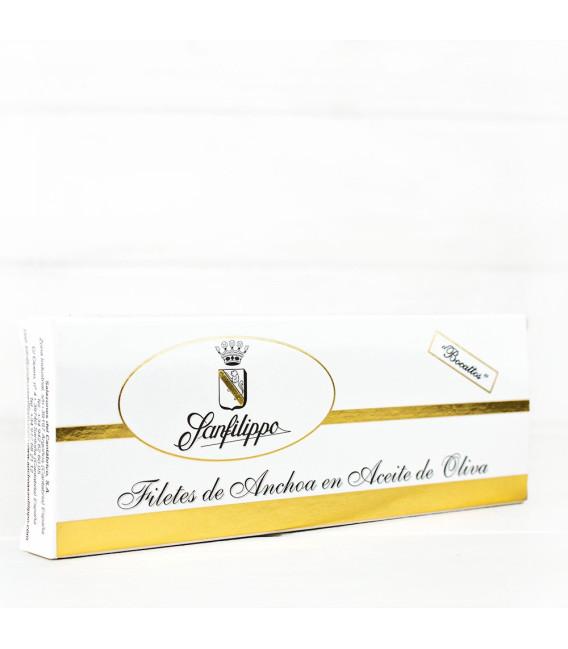 """Anchoas Sanfilippo en Aceite """"Bocattos"""", 17 filetes."""