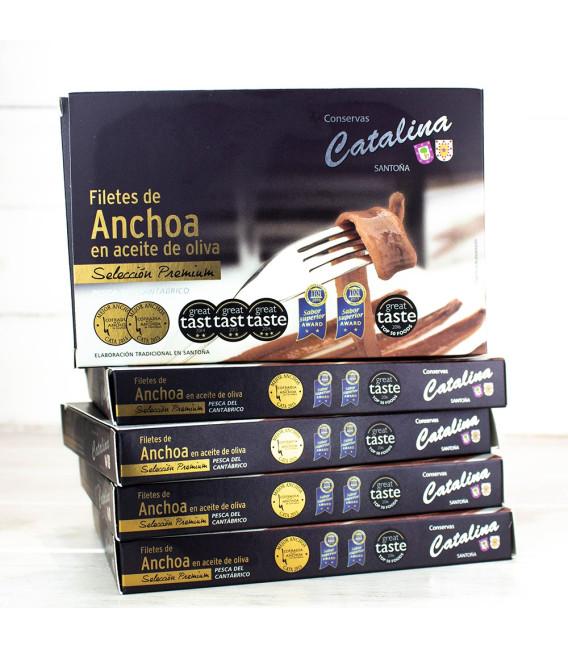 Pack Promoción 5 Latas Anchoas Catalina 10-12 Filetes