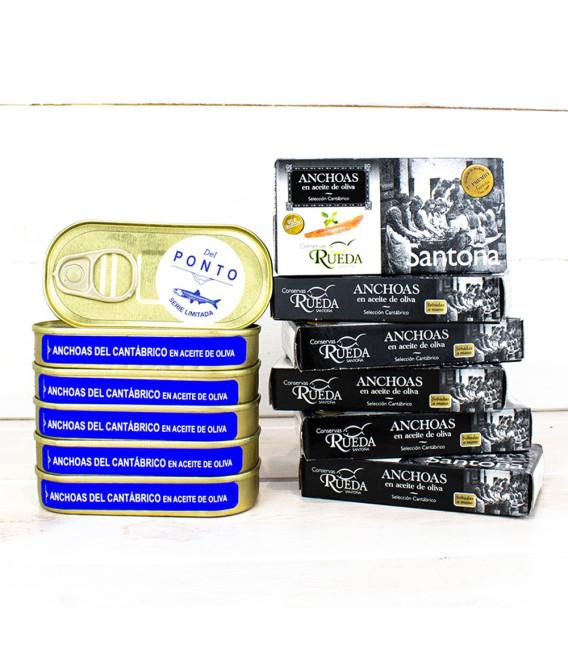 Pack Promoción 6 Anchoas 50gr Rueda + 6 Anchoas 50gr Del Ponto Limitada