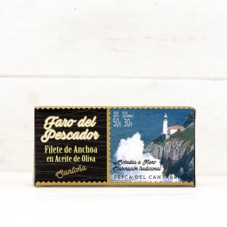 Sardellen aus Santoña in Olivenöl 50 grs. Der Leuchtturm des Fischers