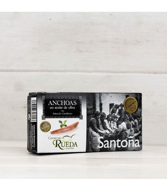 Anchoas de Santoña en Aceite de Oliva 50 grs. Rueda