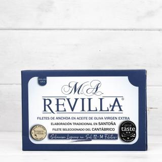 Anchoas de Santoña Alta Restauración Ligeras en Sal, 12-14 Filetes, M.A.Revilla