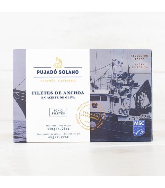 Anchoas de Santoña en oliva ALTA RESTAURACIÓN 110 grs. Pujadó Solano